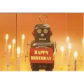 Happy Birthday Robot  Birthday Card
