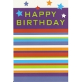 Happy Birthday Stripes and Stars  Birthday Card
